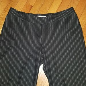 Avenue black and white pinstripe dress slacks